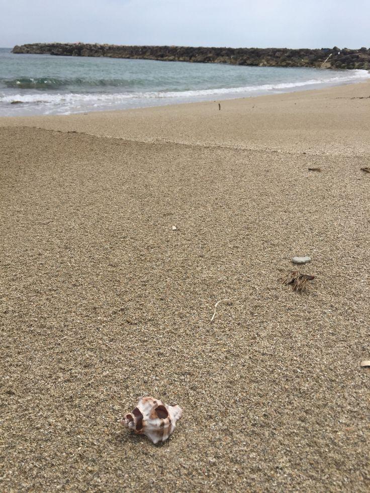 San Cataldo, Lecce.  Sand beach Salento.