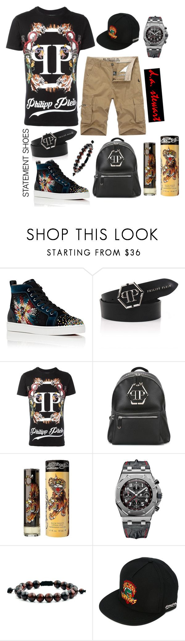 """""""d.a. stewart style"""" by dastewart ❤ liked on Polyvore featuring Christian Louboutin, Philipp Plein, Ed Hardy, Audemars Piguet, West Coast Jewelry, men's fashion and menswear"""