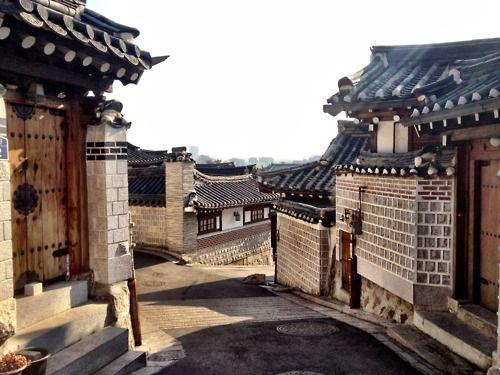 Bukchon hanok village, South-Korea
