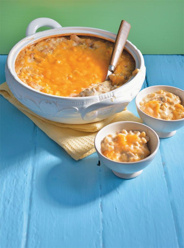 Baked creamy samp. It take a bit longer to prepare, but it sure is worth the time! #braai
