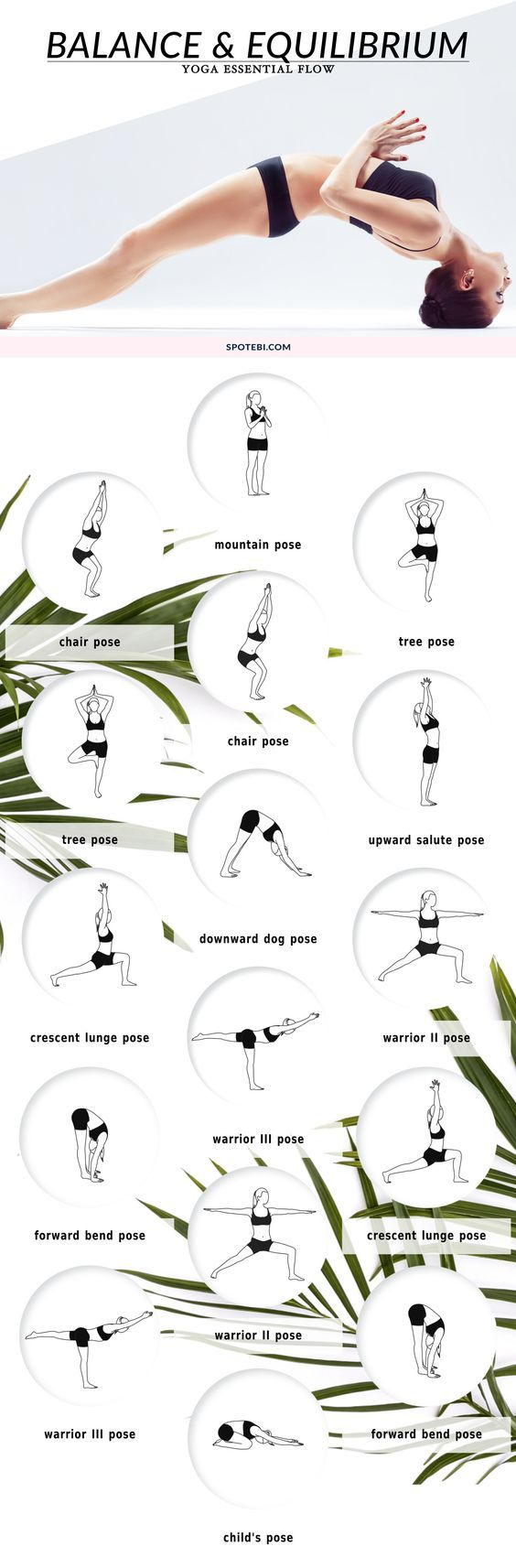 Boost balance and equilibrium, and reduce your risk of fall and injury with this 8-minute yoga flow. Repeat this sequence 2 or 3 times a week to improve muscle tone, flexibility, and reduce stress and anxiety. http://www.spotebi.com/yoga-sequences/balance-equilibrium/