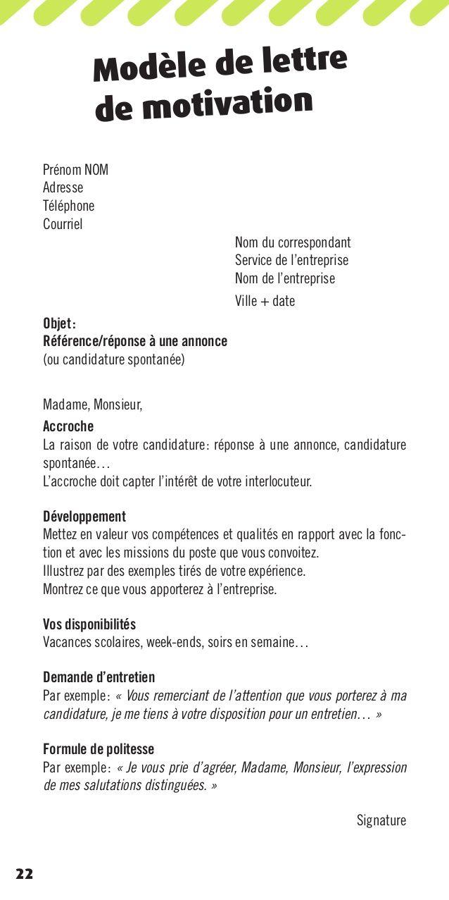 Modele Lettre De Motivation Gratuite Pour Un Travailleur Modele Lettre De Motivation Lettre De Motivation Modeles De Lettres
