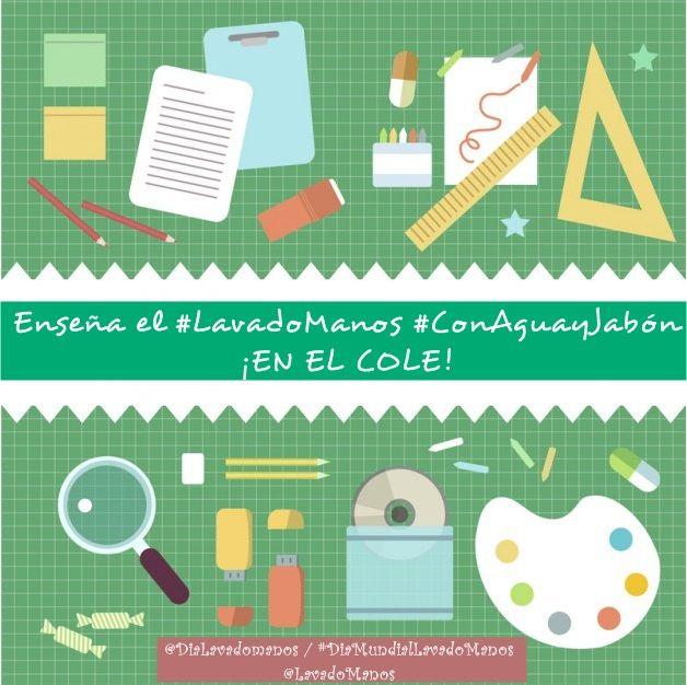 Si eres profe...¡enseña #LavadoManos #ConAguayJabón en el Cole!