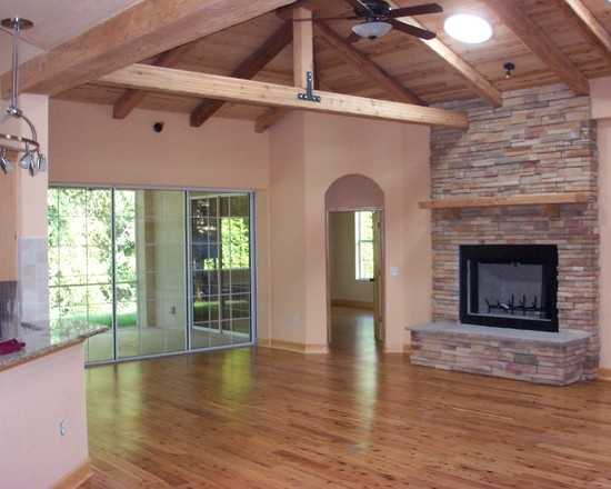 17 best images about home ideas on pinterest country for Open beam ceiling ideas