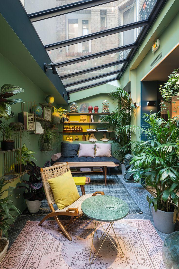 M s de 25 ideas incre bles sobre patios exteriores en - Invernadero en terraza ...