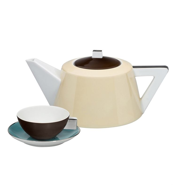 Serviço Chá 15 Peças Chocolate   Vista Alegre Atlantis (tea set 15 pieces)