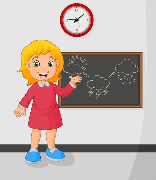 Nina De Dibujos Animados De Pie Frente A Premium Vector Freepik Vector Escuela Ninos Dibujos Animados Retratos De Ninos Pequenos Dibujos Para Ninos