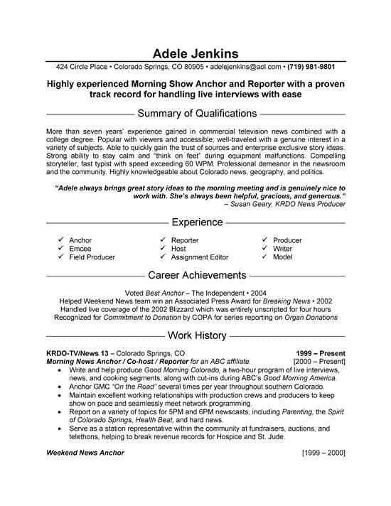 7 best Good Resume Examples images on Pinterest Good resume - army to civilian resume examples