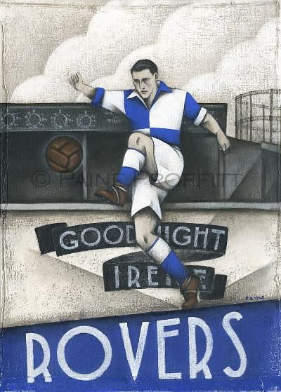 Limited availability - now available at BWSportsArt Bristol Rovers - ..., check it out online here http://www.bwsportsart.com/products/bristol-rovers-good-night-irene-ltd-edition-print-by-paine-proffitt?utm_campaign=social_autopilot&utm_source=pin&utm_medium=pin