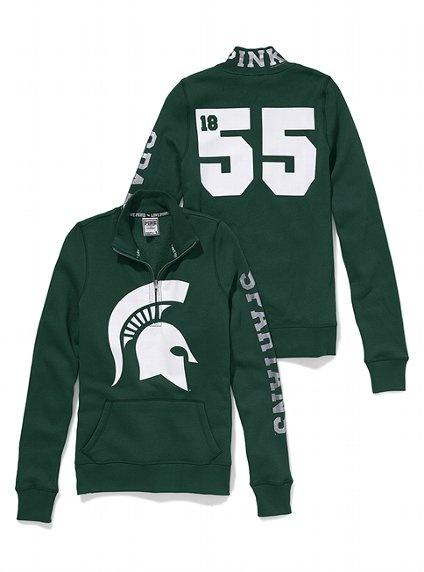 Michigan State Half-Zip Pullover - Victoria's Secret PINK #VSPink #Spartans