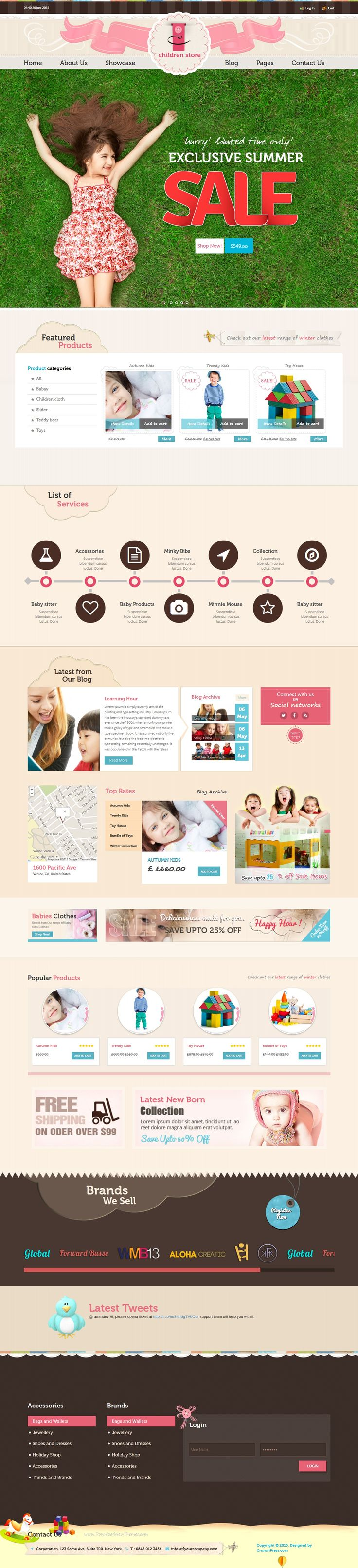 Children Store Responsive #WordPress Theme is a #WooCommerce #store theme based…