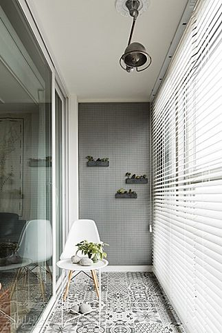 Large blinds at front window