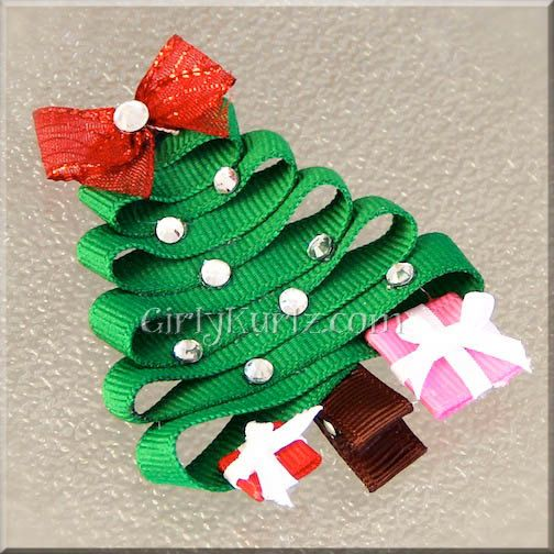 559 Best Ribbon Sculptures Images On Pinterest Ribbon Sculpture  - Christmas Tree Hair Bows