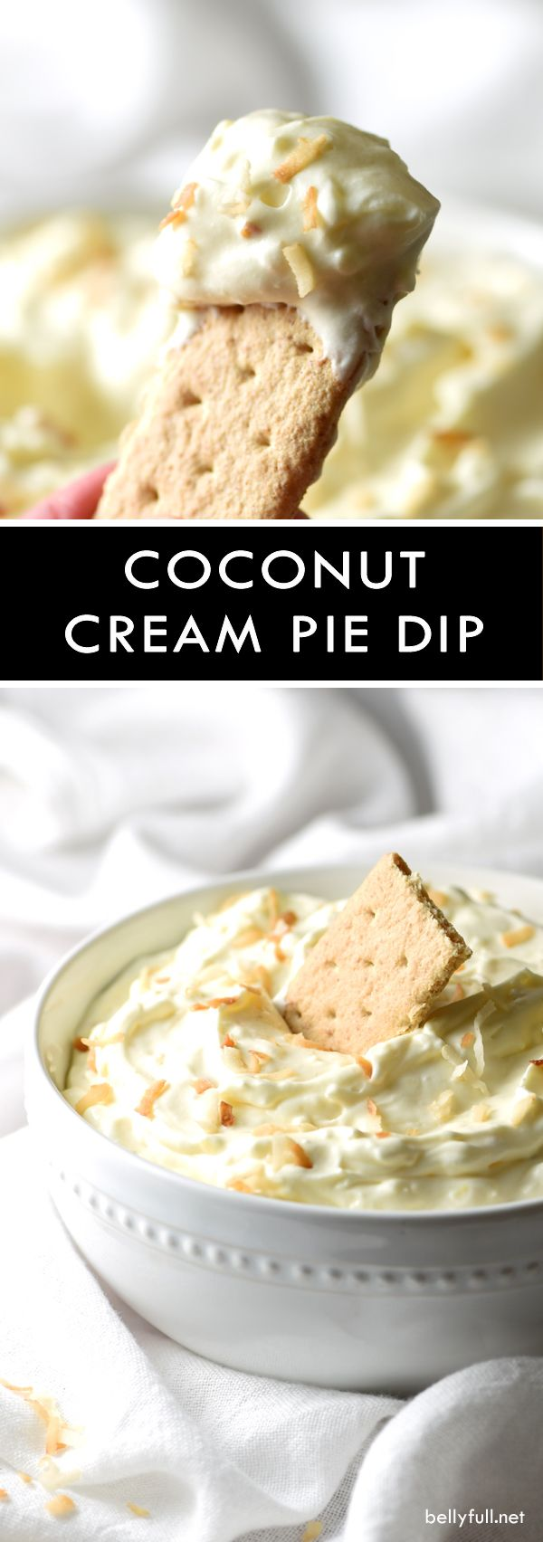 This sweet and silky Coconut Cream Pie Dip calls for only 6 ingredients and 10 minutes of prep time. Great for parties!