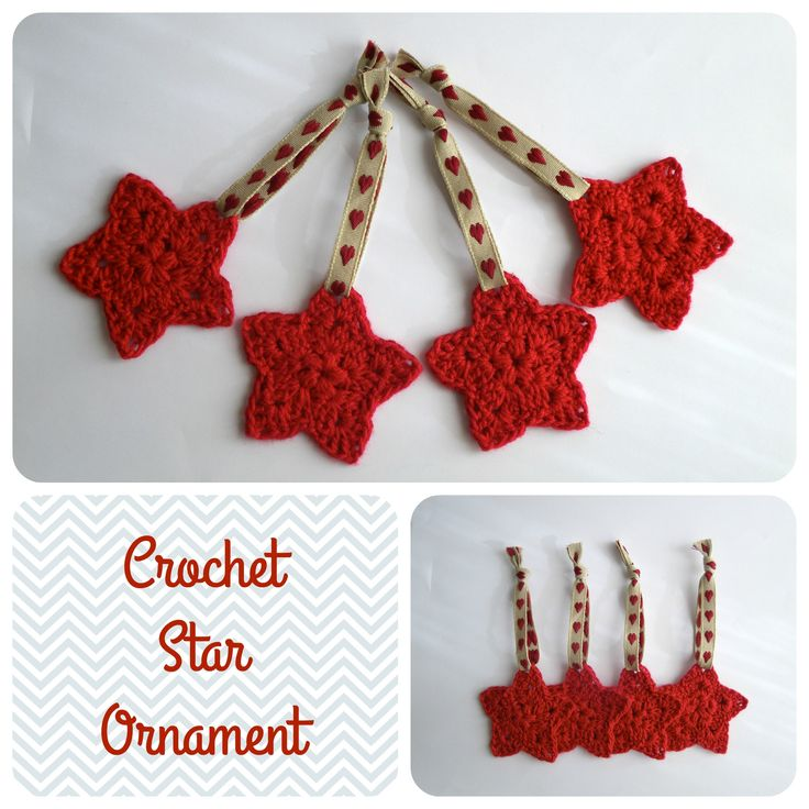 Crochet Star Ornament. Free Pattern: http://www.1dogwoof.com/2013/12/crochet-star-ornament-pattern.html