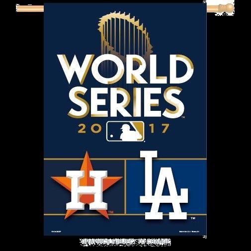 World Series 2017 Houston Astros vs. Los Angeles Dodgers 28x40 Dueling Banner #HoustonAstrosLosAngelesDodgers