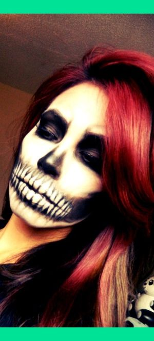 halloween makeup. Love this look! Not too creepy! Still has beauty in it