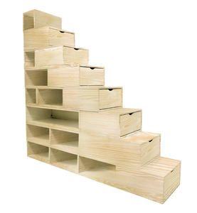 1000 id es sur le th me cubes de rangement sur pinterest rangement maison - Escalier rangement integre ...