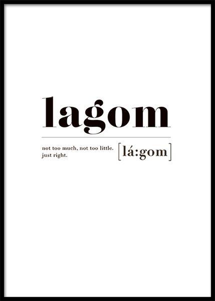 Lagom Poster in der Gruppe Poster / Größen und F…