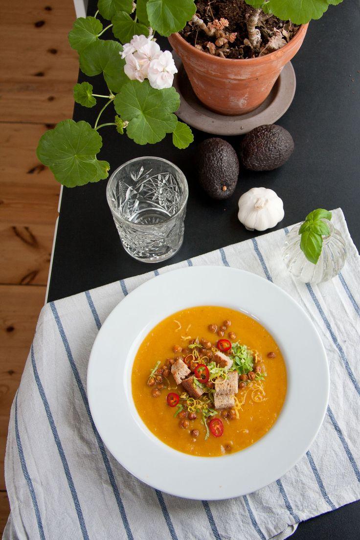 Butternut squash soppa. Recept från jordig.se