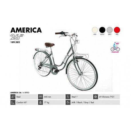 Bicicleta de Paseo Clásica para mujer Alpina Vintage America 26