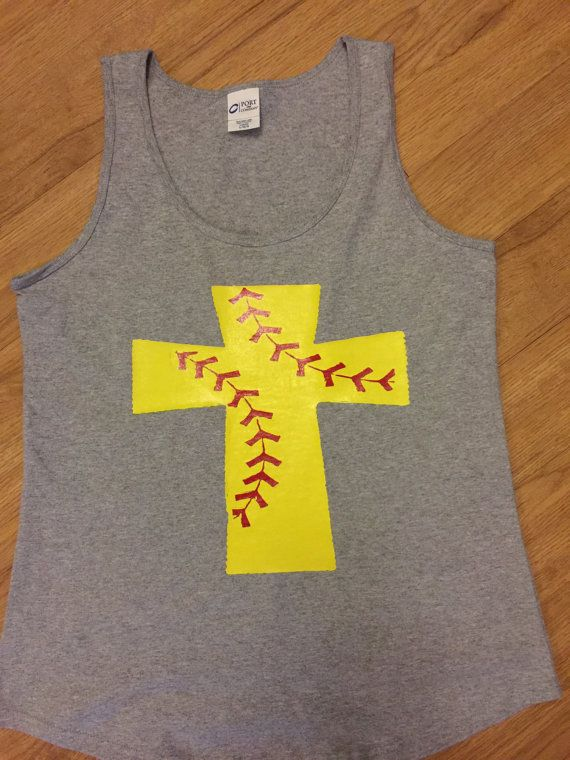 Softball cross shirt. Can do in a tank or t by SweetTeaNSass