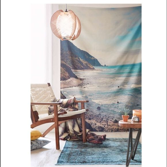 """Urban outfitters tapestry Brand new. Took it out of packaging and never hung. Decided I didn't want a beach theme anymore. 60""""L 90""""W Urban Outfitters Other"""