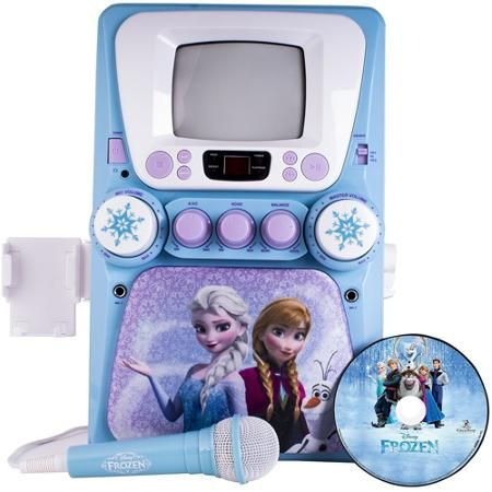 Disney Frozen Karaoke Machine with Monitor plus Bonus CD+G and Lyric Booklet $89.96 ~ We just bought this for Megan today for Christmas..... She is going to LOVE it.