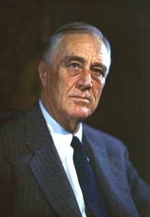 Franklin Delano Roosevelt-- (January 30, 1882 – April 12, 1945), commonly known as FDR, was an American statesman and political leader who served as the President of the US from 1933 to 1945. A Democrat, he won a record four presidential elections and dominated his party for many years as a central figure in world events during the mid-20th century, leading the United States during a time of worldwide economic depression and total