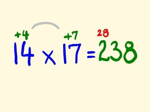 Fast Mental Multiplication Trick - multiply in your head using base 10
