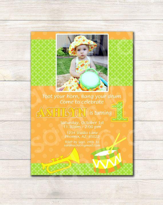 Printable Musical Birthday Party Invitation  sarah O by sarahOchic, $12.00