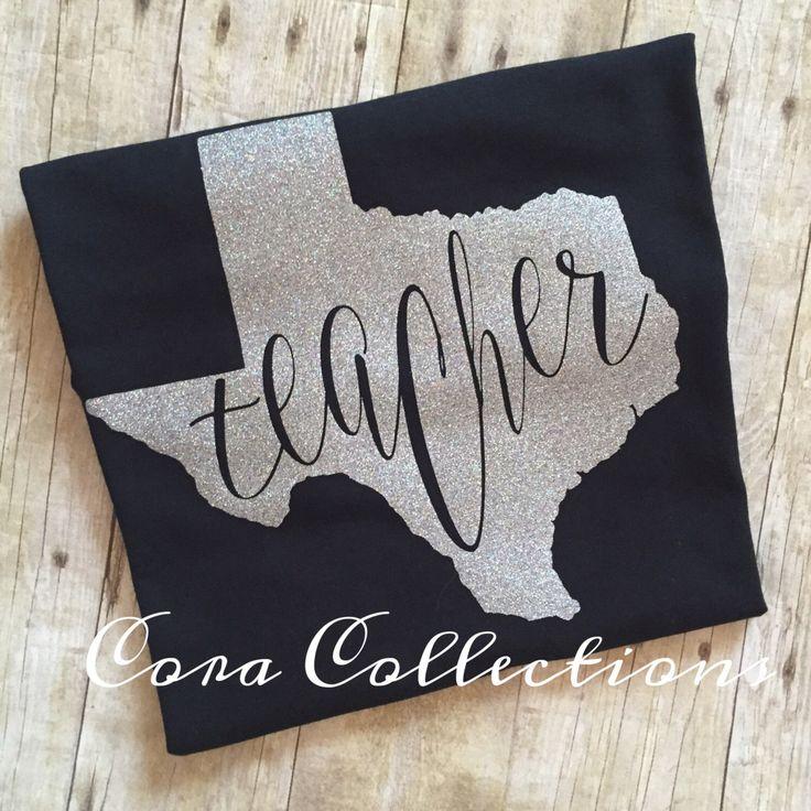 Gitter Vinyl Texas Teacher Tee Shirt by CoraCollections on Etsy https://www.etsy.com/listing/287510713/gitter-vinyl-texas-teacher-tee-shirt