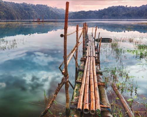 Tamblingan Lake in Indonesia