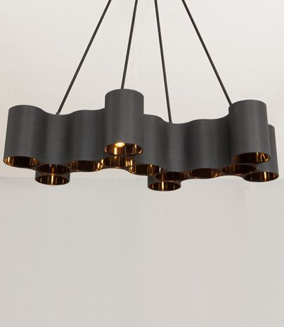 Feature pendant by Ted Abramczyk - perfect for a lobby or over a dining room table #designerlighting #interiordesign
