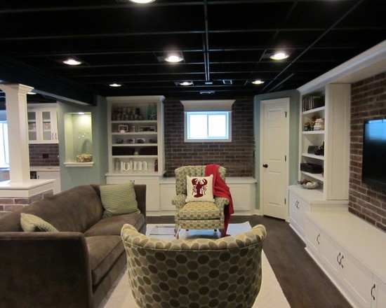 Man Cave Ideas Low Ceiling : Images about basement on pinterest exposed