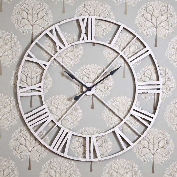 Huge 122cm skeleton clock less ordinary living room for Decorative mirrors for less