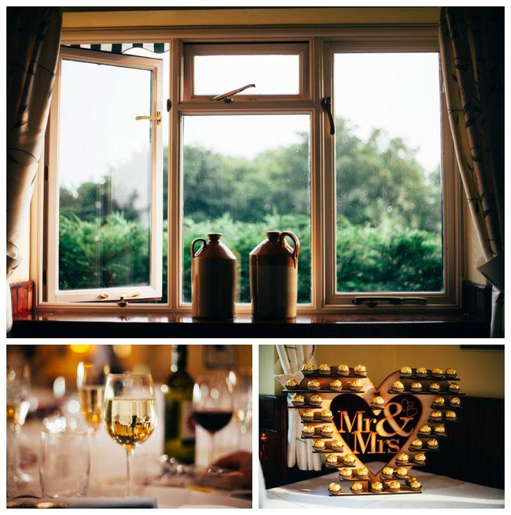Details of wedding reception venue, mr & mrs ferrero rocher