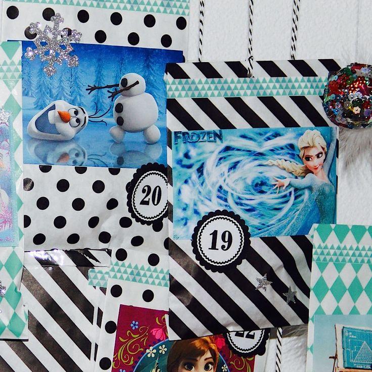 Selbstgebastelter Adventskalender Frozen Mehr Infos auf der Webseite....