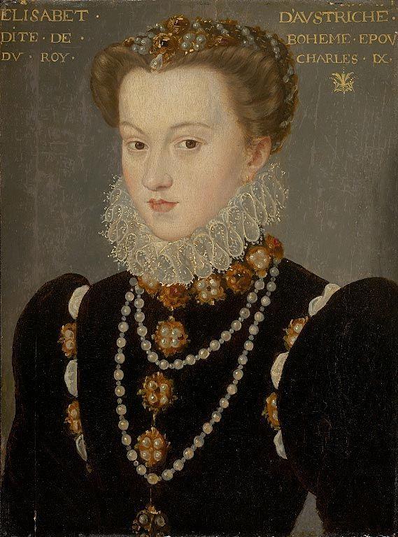 François Clouet Elisabeth of Austria Queen of France.jpg 1571