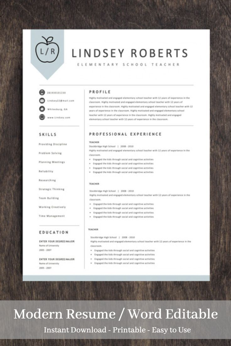 This Item Is Unavailable Etsy Teacher Resume Template Free Teaching Resume Teacher Resume Template