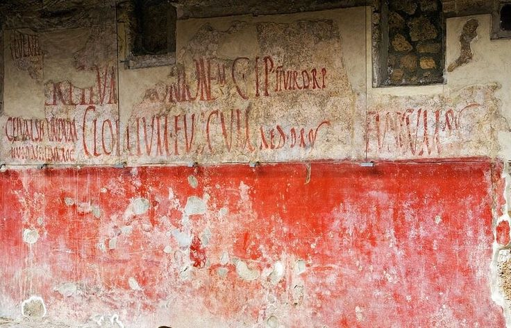 Election Slogans. Ancient graffiti at Pompeii. pic.twitter.com/ziDISmTbn7