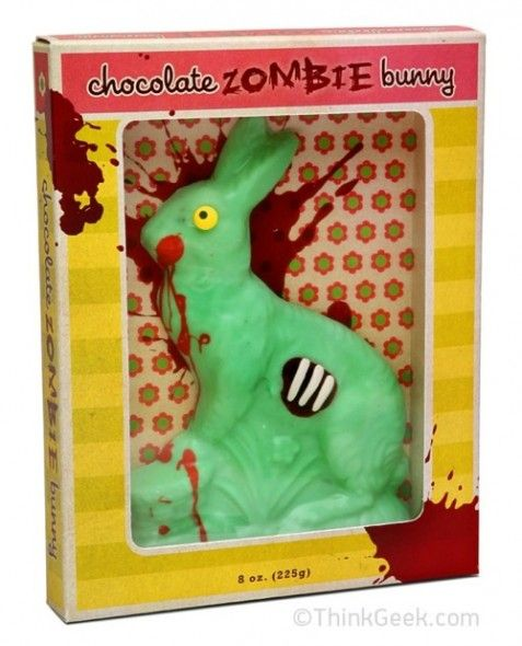 chocolate zombie bunny.-I don't even know...Holiday, White Chocolates, Zombies Bunnies, Easter Bunnies, Chocolates Zombies, Easter Eggs, Easter Baskets, Easter Bunny, Chocolates Bunnies