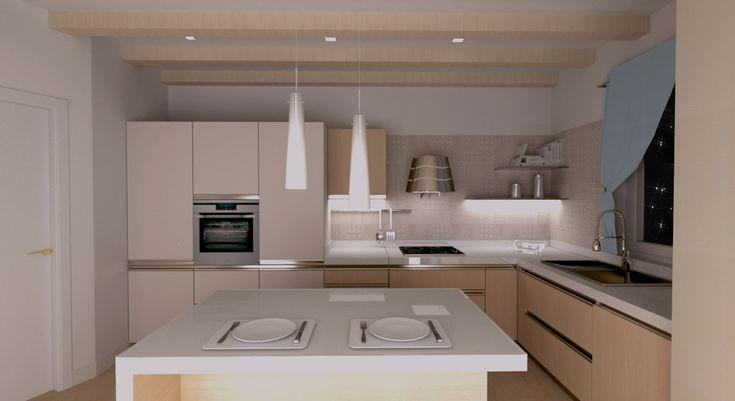 render kitchen - render cucina  ristrutturainterni.com