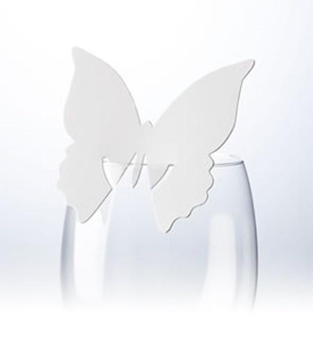 Tischkarten Schmetterling weiß