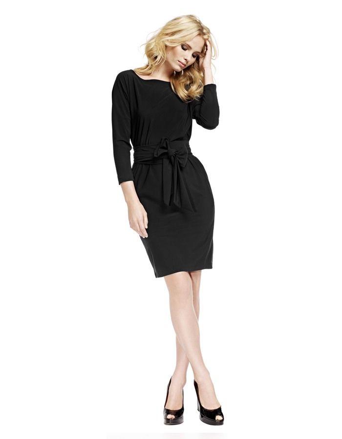 carla schwarz kleid mit fledermausaermel fledermausaermel kleider
