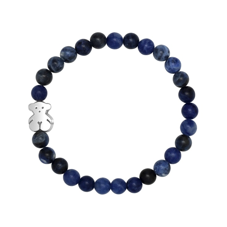 Sterling silver and sodalite TOUS Bear elastic bracelet  TOUS WASHINGTON DC