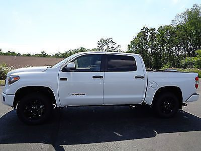 2017 Toyota Tundra 2017 Crewmax TRD PRO Due to Arrive August New 2017 Tundra Crewmax 4x4 TRD PRO White Spray in Bedliner Remote Start 5.7L