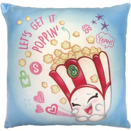 Shopkins Poppycorn Decorative Pillow, Blue