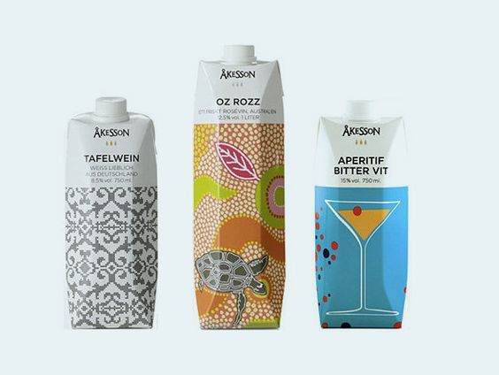 Who knew boring tetra paks could look so pretty. These new tetra pak designs really put a new spin on boxed wines. Eventually, drinking wine out of a tetra pak might be just as sophisticated as drinking corked wine from a bottle.: