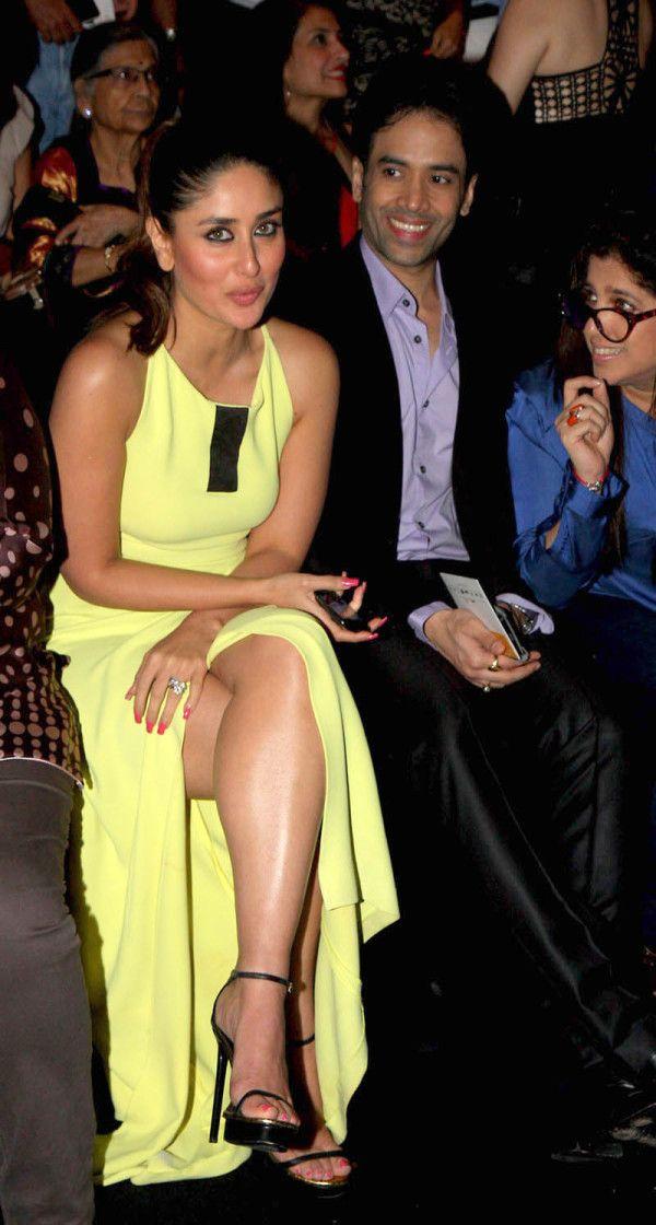 Kareena Kapoor in OSMAN with sister Karisma Kapoor Lakme Fashion Week 2013